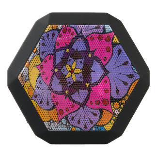 花の曼荼羅のスピーカー ブラックBluetoothスピーカー