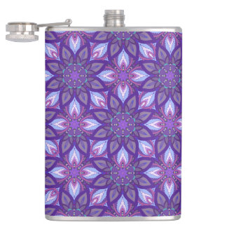 花の曼荼羅の抽象芸術パターンデザイン フラスク