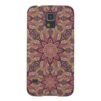 花の曼荼羅の抽象芸術パターンデザイン GALAXY S5 ケース