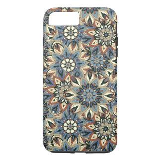 花の曼荼羅の抽象芸術パターンデザイン iPhone 8 PLUS/7 PLUSケース