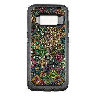 花の曼荼羅の要素が付いているヴィンテージのパッチワーク オッターボックスコミューターSamsung GALAXY S8 ケース