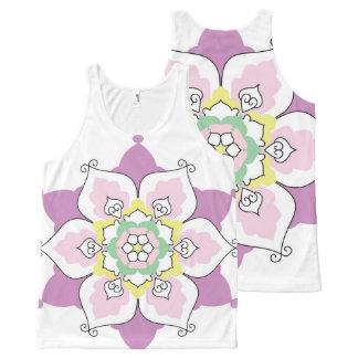花の曼荼羅 オールオーバープリントタンクトップ