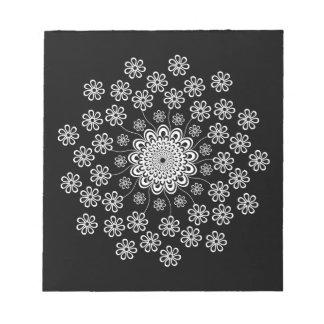 花の曼荼羅 ノートパッド