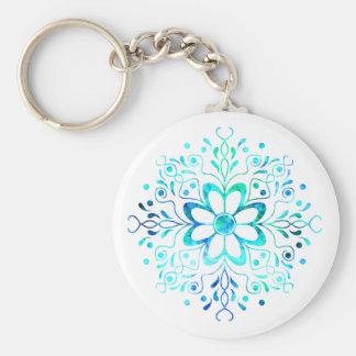 花の曼荼羅Keychain キーホルダー