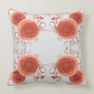 花の枕パターン クッション