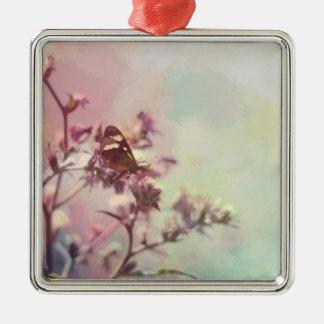 花の枝の蝶 メタルオーナメント