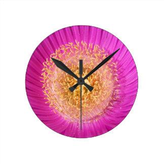 花の柱時計 ラウンド壁時計