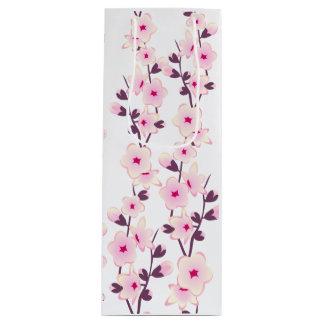 花の桜のワインのギフトバッグ ワインギフトバッグ