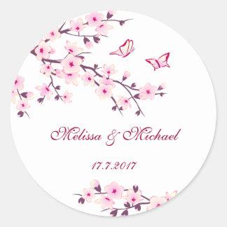 花の桜の結婚 ラウンドシール
