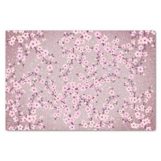 花の桜の藤色のグリッター 薄葉紙