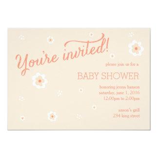 花の概要の招待状 カード