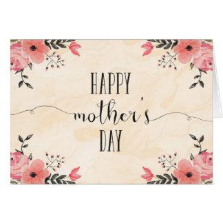 花の母の日カード水彩画 グリーティングカード