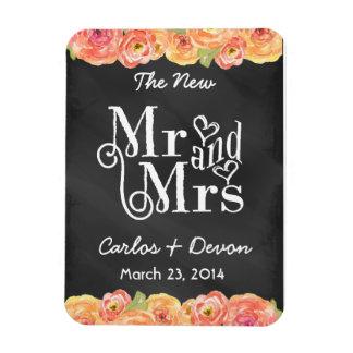 花の水彩画の黒板の結婚式の磁石 マグネット