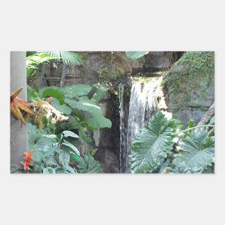 花の滝 長方形シール