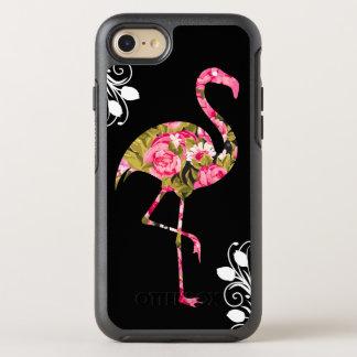 花の熱帯フラミンゴ オッターボックスシンメトリーiPhone 8/7 ケース