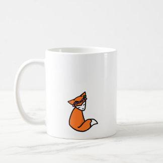 花の王冠のキツネのマグ コーヒーマグカップ