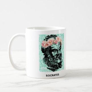 花の王冠SocratesおよびEpictetusのマグ コーヒーマグカップ
