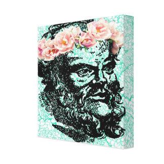 花の王冠Socratesのキャンバス キャンバスプリント