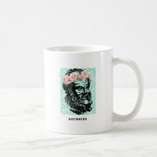 花の王冠Socratesのマグ コーヒーマグカップ