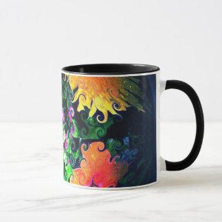"""""""花の球体"""" 11のoz。 信号器のコーヒー・マグ マグカップ"""