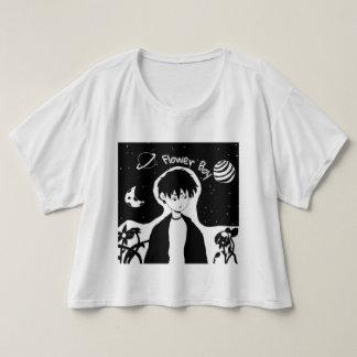花の男の子の穀物の上 Tシャツ