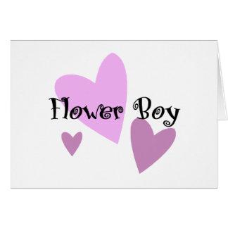 花の男の子 カード