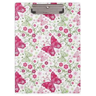花の白いパターン クリップボード