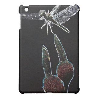 花の白熱[赤熱]光を放つな端のトンボはiPadの箱に斑点をつけます iPad Miniケース