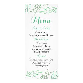 花の真新しい緑メニューは素朴な結婚式を去ります ラックカード