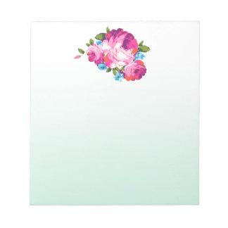 花の真新しくグラデーションなメモ帳 ノートパッド