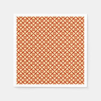 花の着物のプリント、マンダリンオレンジ スタンダードカクテルナプキン