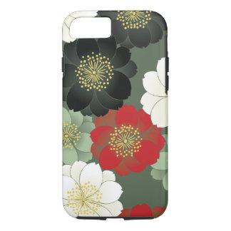 花の着物パターン日本人のファインアート iPhone 8/7ケース