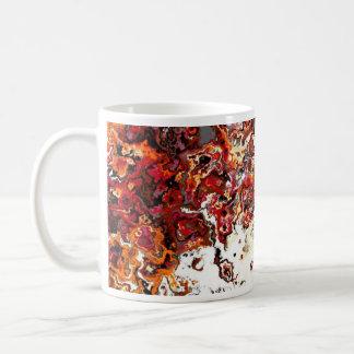 花の秋の渦巻デザイナーマグ コーヒーマグカップ
