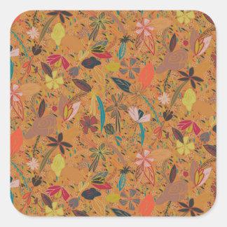 花の種の金太陽 スクエアシール