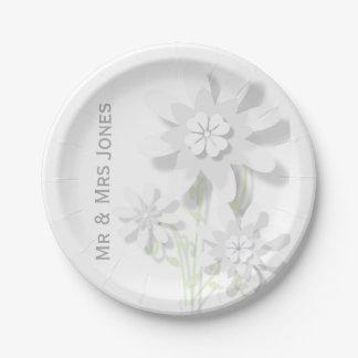 花の紙皿(カスタマイズ可能な) ペーパープレート