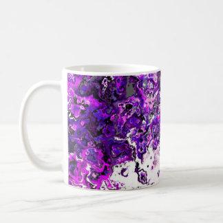 花の紫色の渦巻デザイナーマグ コーヒーマグカップ