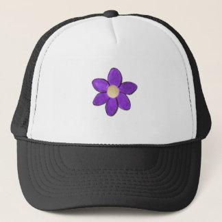 花の紫色 キャップ