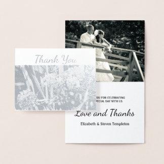 花の結婚式の写真はホイルカード感謝していしています 箔カード