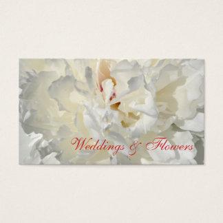 花の結婚式の招待状 名刺
