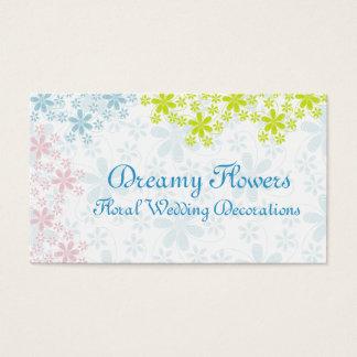 花の結婚式の装飾 名刺