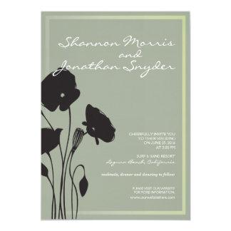 花の結婚式招待状 カード