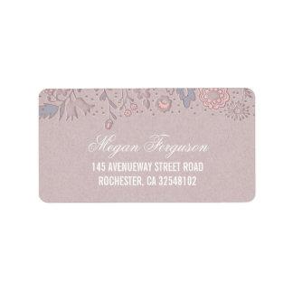花の結婚式 宛名ラベル