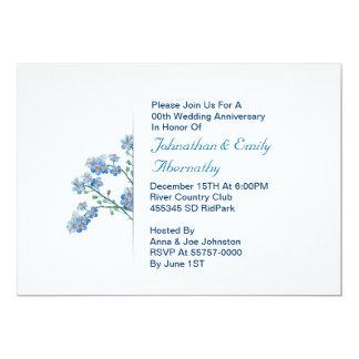 花の結婚記念日の招待 12.7 X 17.8 インビテーションカード