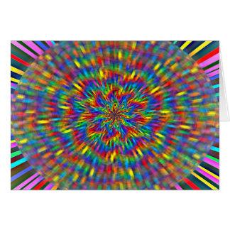 花の絞り染めカード カード