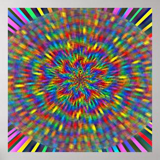 花の絞り染めポスター ポスター