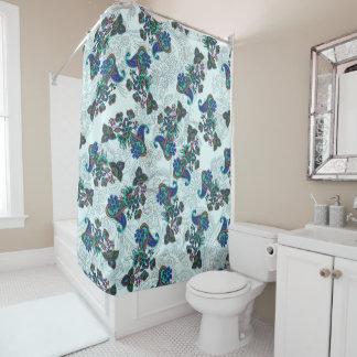 花の絵のペーズリー伝統的なパターン シャワーカーテン