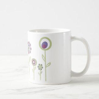 花の絵 コーヒーマグカップ