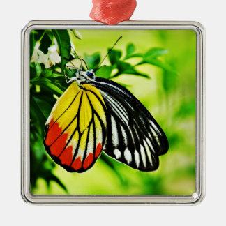 花の美しい蝶 メタルオーナメント