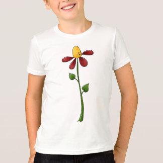 花の美しい Tシャツ