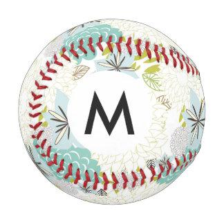 花の背景 野球ボール